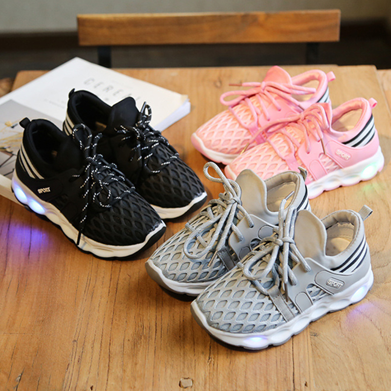 New Children Led Sneaker Kids Lighting Shoes Boys S Light Sneakers Colorful Flashing Tx1006 In From Mother