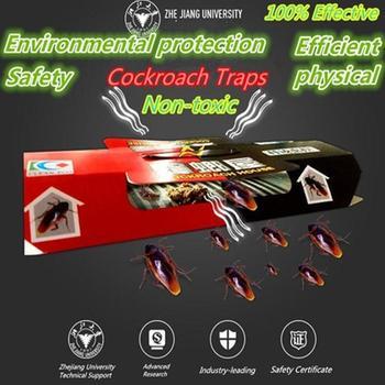 100 PCS Cockroach Sticky Board Traps Cockroach Killer Bait Trap Pest Repeller Cucaracha Trap House Cockroach Pitfall Device фото