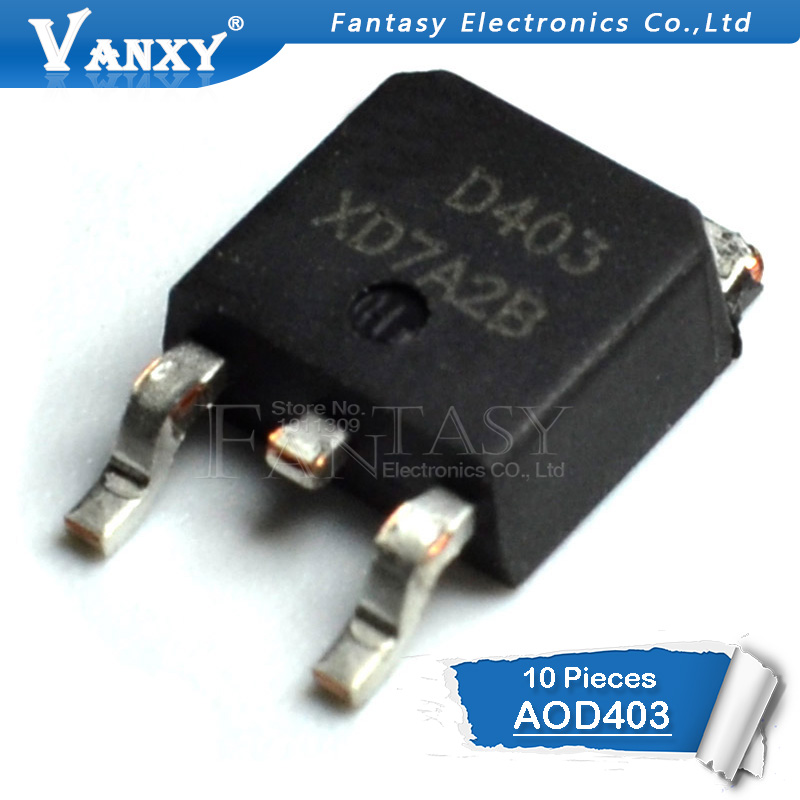 10PCS D403 TO252 AOD403 TO-252 New And  Original IC