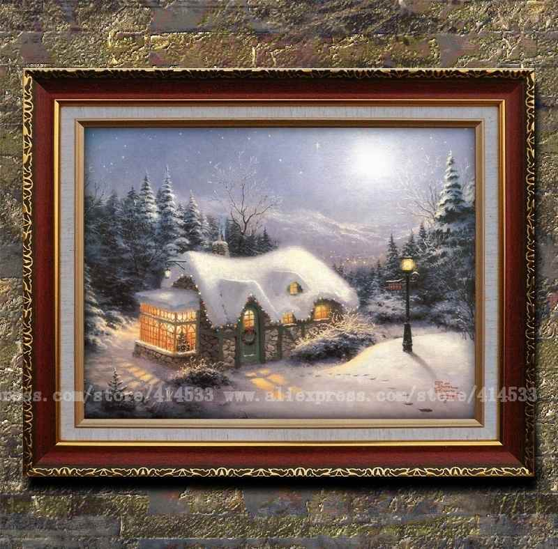 Thomas kinkade prints of original oil painting silent - Home interiors thomas kinkade prints ...