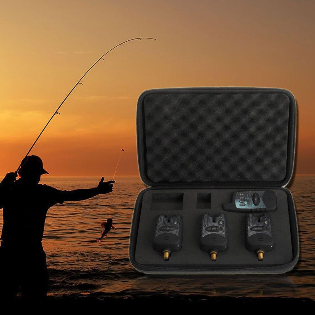 2018 Brand New Hot Sale New Set 3 PCS Wireless Running Fishing Bite Alarm Alert + Receiver pesca Tackle2018 Brand New Hot Sale New Set 3 PCS Wireless Running Fishing Bite Alarm Alert + Receiver pesca Tackle