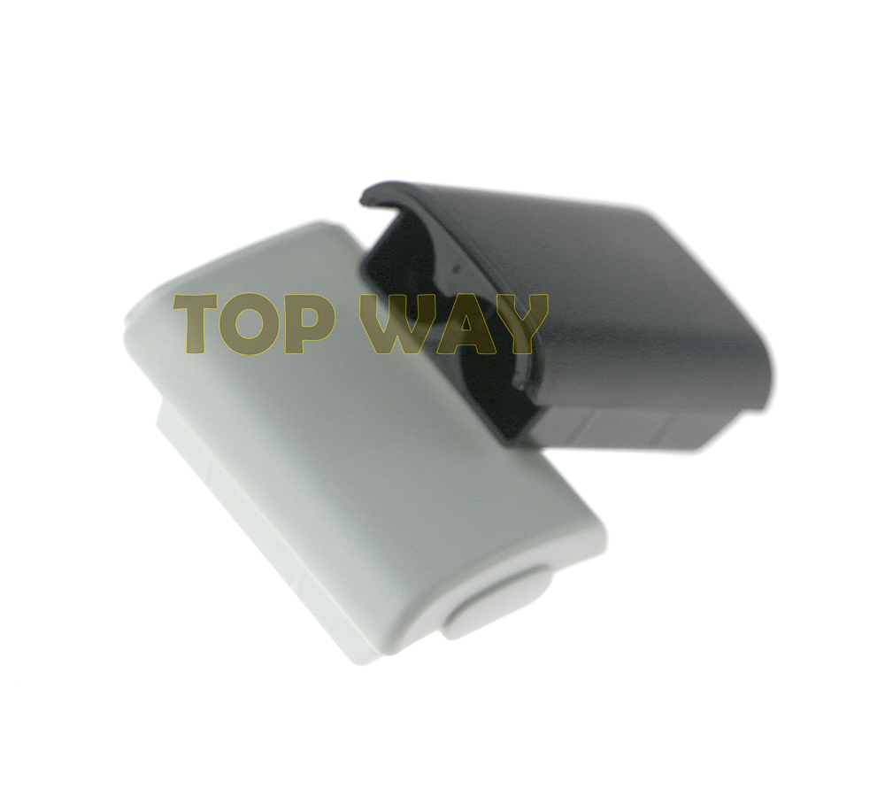 ChengChengDianWan Black & White Battery Cover Case Shell For Xbox 360/xbox360 Wireless Controller Rechargeable Battery