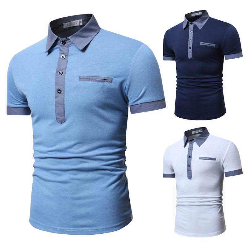 Men Summer   Polo   Shirt 2019 Brand Men's Fashion Cotton Short Sleeve   Polo   Shirts Male Solid Jersey Breathable Tops Tee