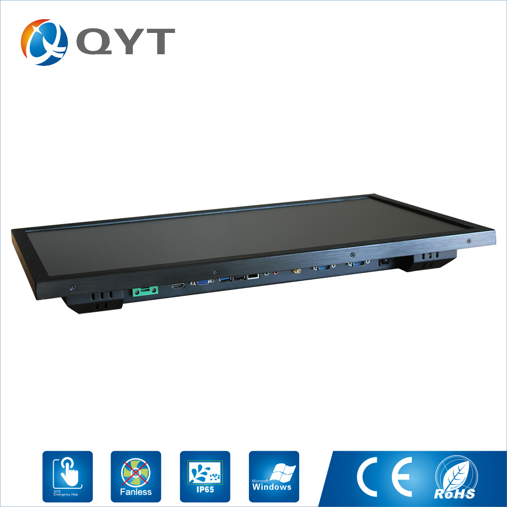 Image 3 - Embedded computer 1920X1080 4GB ddr4 32G ssd 24inch Industrial all in one pc with N3150 1.6GHz USB/WIFI/rs232/VGA-in Desktops from Computer & Office