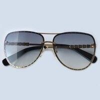 New Brand Designer Vintage Oval Sunglasses Women Retro Eyewear Metal Frame Sun Glasses For Female Oculos De Sol