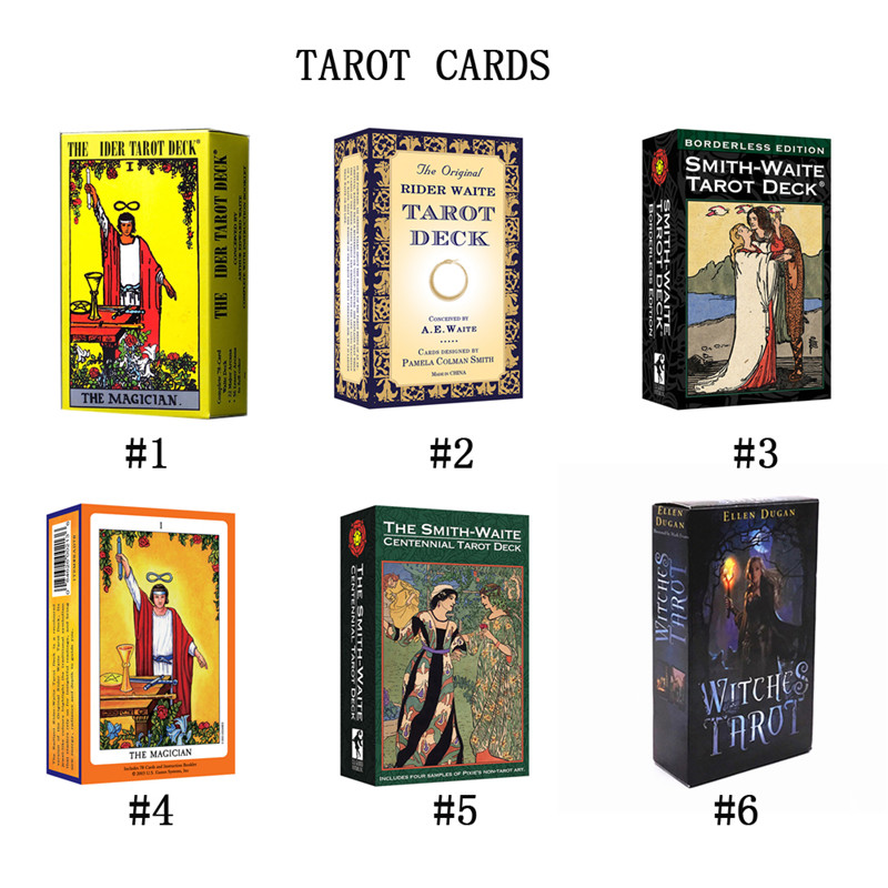 English 78 Sheets/Set Tarot Cards Deck Cards Read The Mythic Fate Divination For Fortune Card Games Board Game