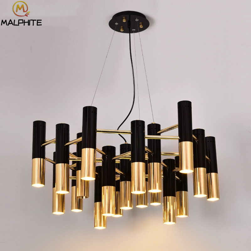 Delightfull metal tube hanging deco lighting fixtures modern LED ...