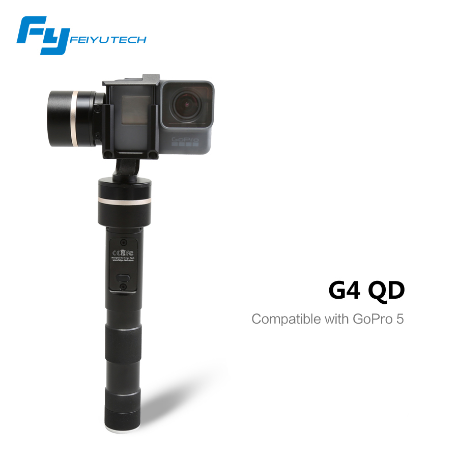 Feiyu Tech FY-G4 QD 3-Axis Brushless Gimbal Handheld Stabilizer for Gopro 4 3+ 3 SJ4000 Xiaoyi AEE Sports Action Camera feiyu tech fy mini3d pro 3 axis 6 damper ball brushless gimbal for gopro4 gopro3 gopro3 sport camera