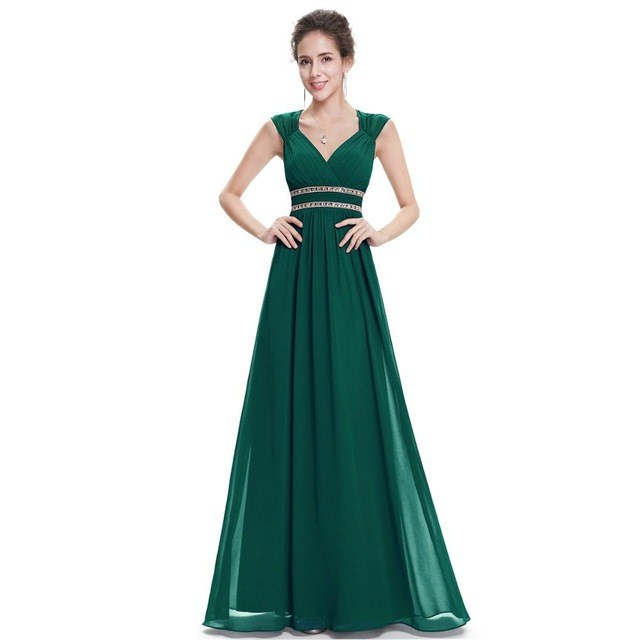 Beaded Robe Demoiselle D'honneur Double V Sexy Bridesmaid Dress Long Cheap Prom Gown Wedding Party Women Vestidos De Madrinha