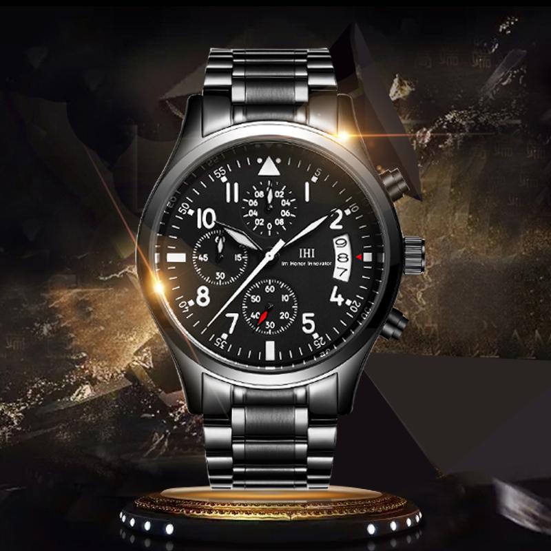 Prix pour Marque de luxe IHI Quartz Montre hommes Mode Sport Casual militaire Armée Hommes D'affaires Montre Analogique Relogio Wristwatc