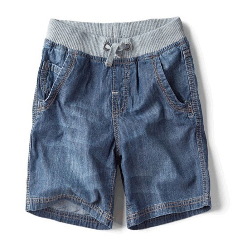 The New Children's Summer Children's Brand Jeans Denim Shorts 2016 Hot Fashion Casual Boy Shorts destroyed raw hem denim shorts
