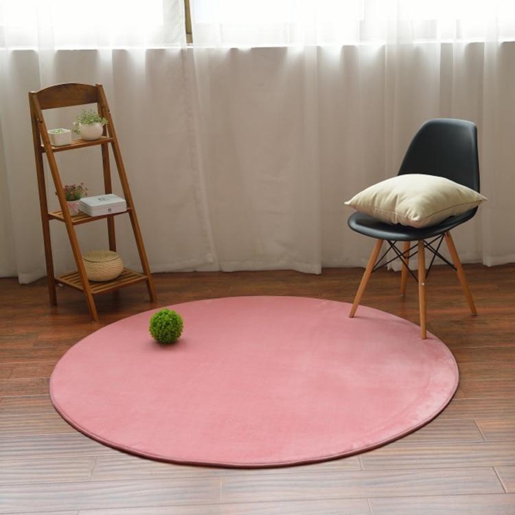 Washable Round Living Room Decor Mats Cartoon Baby Room Bedroom ...