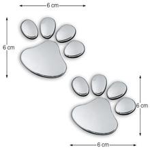 3D Car Sticker Cool Dog Paw Print Design