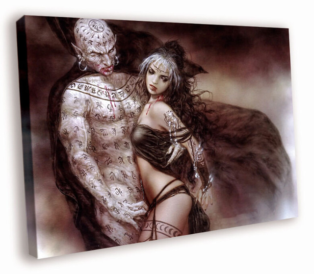 Hd Canvas Printings Painting Luis Royo Beauty Nosferatu Passion D7070