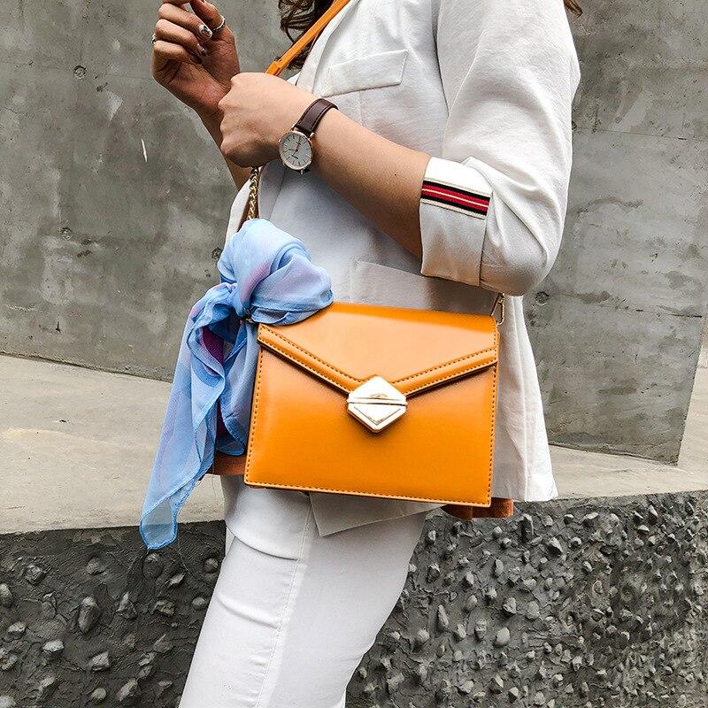 Nouveau sac jaune à la mode Simple à une épaule en biais Version coréenne sacs à bandoulière pour femmes en 2019