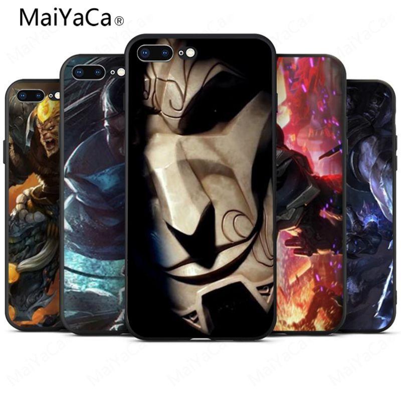 MaiYaCa League of Legends LOL Soft Rubber Black Phone Case For iphone 8 8plus 7 7plus 6 6p
