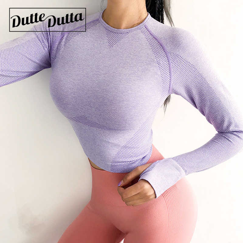 Seamless Long Sleeve Jersey Woman Gym Crop Yoga Top Women's Sweatshirt Workout Tops For Women Sports Wear Fitness Sport T-shirt