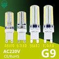 Светодиодная лампа G9  7 Вт  9 Вт  10 Вт  11 Вт  кукурузная лампа переменного тока  220 В  SMD 2835  3014  48  64  96  104 светодиода  светодиодная лампа на 360 граду...