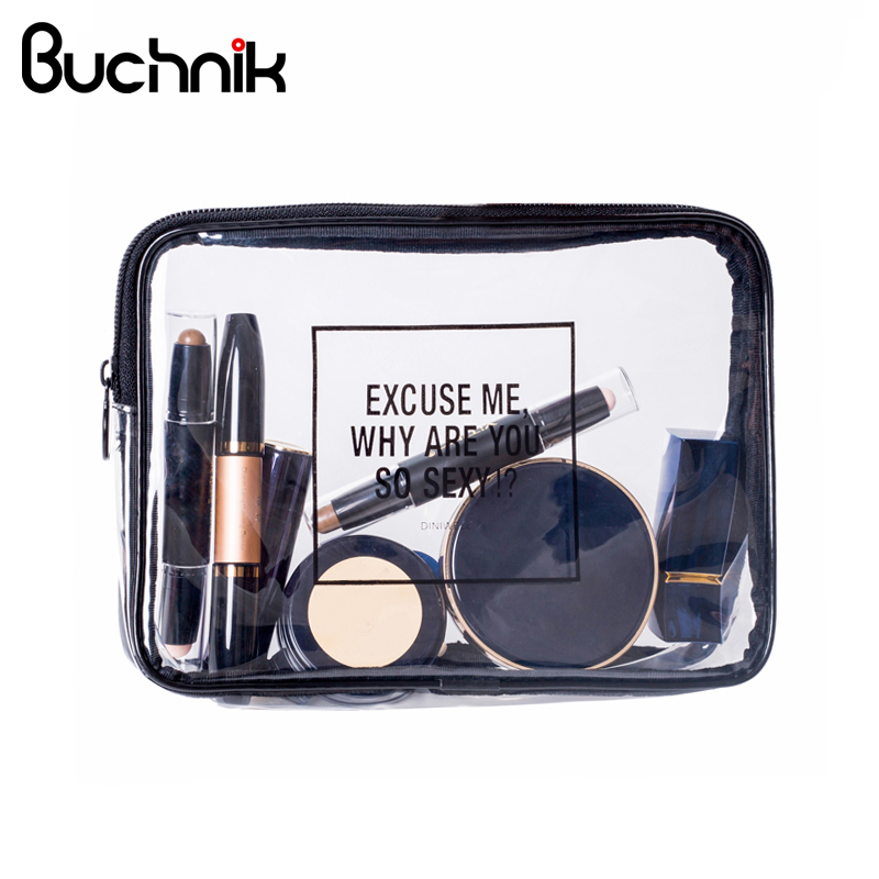 PVC Transparent Cosmetic Bag Waterproof Clear Pouch Organizer Makeup Bags Women Travel Toiletry Case Accessories Bulk Supplies цена