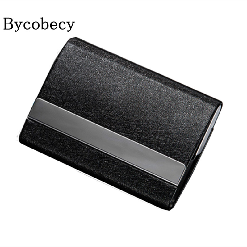 BYCOBECY Super Large Capacity Business Name Card Holder Double sided ...