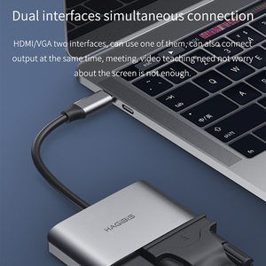 Image 3 - Hagibis USB C HDMI VGA Adapter Type C to HDMI 4K Thunderbolt 3 for Samsung Galaxy S10/S9/S8 Huawei Mate 20/P30 Pro USB C To HDMI