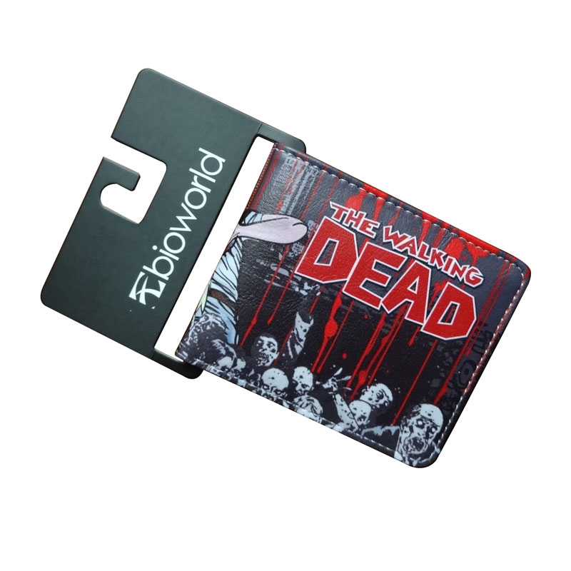все цены на New Anime Wallets Walking Dead Character Leather Purse Gift for Teenager Students Dollar Card Money Bags Casual Short Wallet онлайн