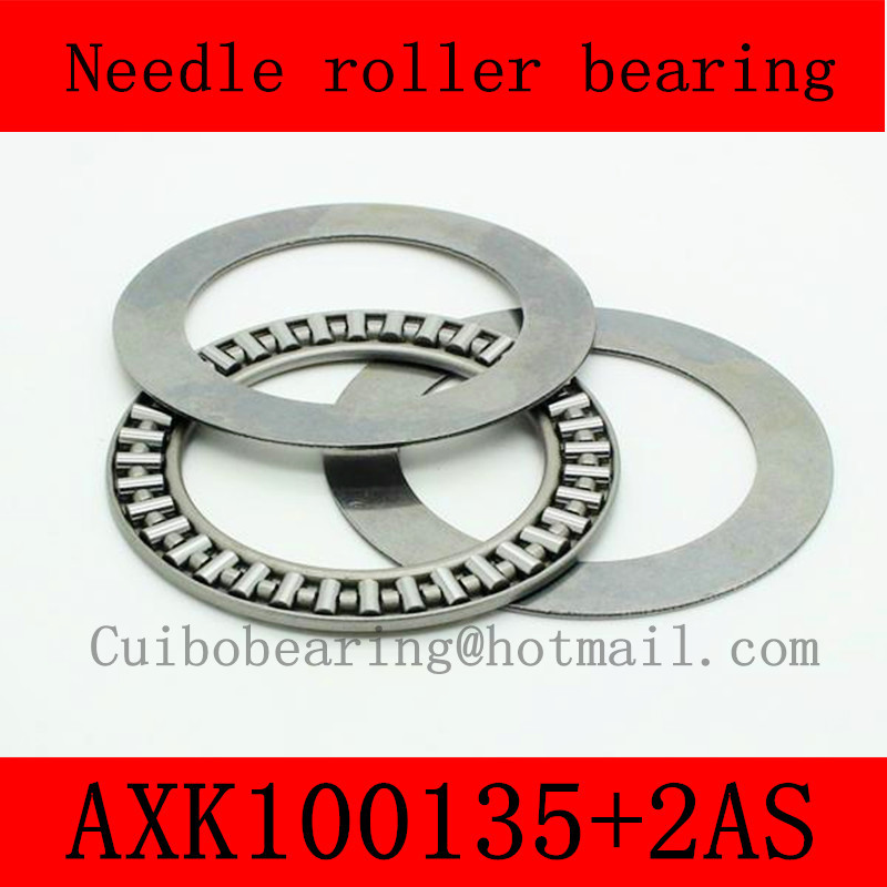 100X135X4mm AXK100135+2AS thrust needle roller bearing AXK100135  just for sales volume na4910 heavy duty needle roller bearing entity needle bearing with inner ring 4524910 size 50 72 22