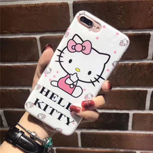 "Lovely Cute ""HELLO KITTY"" Mobile Phone Cases For iPhone6 Silicone&Plastic Back Covers For iPhone6plus Coquue Fnda For iPhone6S"