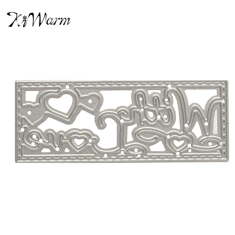 1pcs letters love cutting dies stencils diy decor for scrapbooking paper card album embossing painting diy
