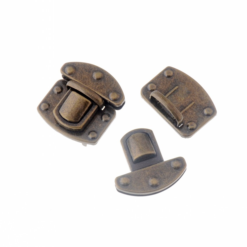 Free Shipping 1 Set Bronze Tone Trunk Lock Handbag Bag Accessories Purse Snap Clasps/ Closure Locks 76x57mm Arts,crafts & Sewing Apparel Sewing & Fabric