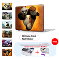 Super Panda Pattern Print New Crystal Hard Case For Apple Macbook Air Pro Retina 11 12 13 15 Laptop Bag For Mac Book 13.3 Inch