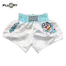 2019 Fluory new release Doraemon cute kids muay thai shorts kick boxing shorts for youths and children (boys and girls) religiosity and alcohol drinking of modern thai youths