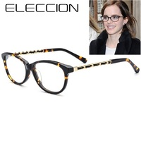 ELECCION Brand Italian Designer Acetate Cat Eye Glasses Frame Women 2018 Female Vintage Myopia Glass Frames Eyewear High Quality