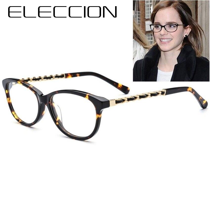 ELECCION marque Designer italien acétate chat lunettes cadre femmes 2018 femme Vintage myopie verre cadres lunettes de haute qualité