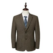WAEOLSA Men Wool Blazers Woollen Blend Suit Coat Mans Elegant Outfits Camel Gray Claret-red Blazer Hombre Smart Casual Uniform