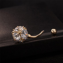 Magic Ball CZ Jewelry Gold-color Belly Button Rings Colorful Clear Cubic Zirconia Piercing Body Piercing Navel