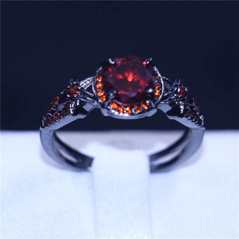 Choucongวินเทจดอกไม้เครื่องประดับพังก์แหวน2ct 5aเพทายคริสตัลทองคำสีดำที่เต็มไปพรรคแหวนแต่งงานวงสำหรับผู้หญิงBague f emme