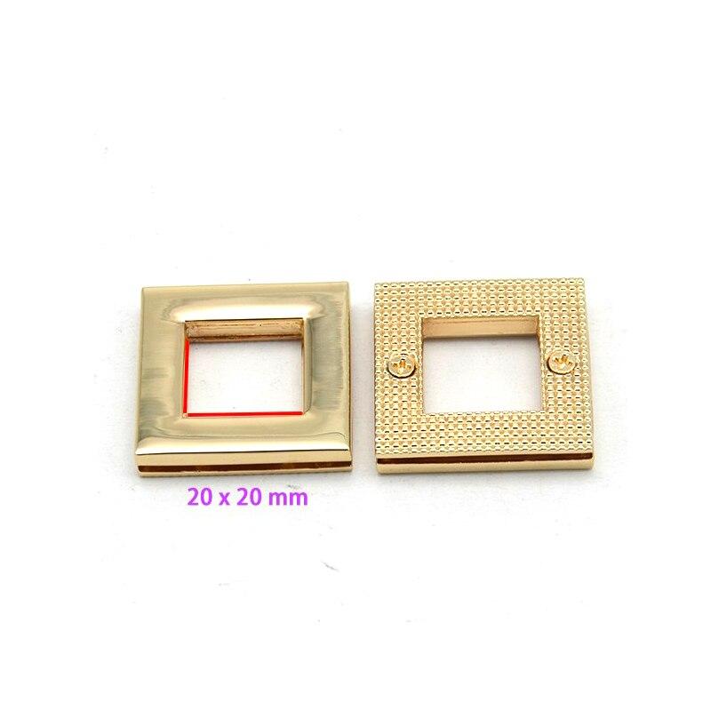 3/4 дюймов ( 20 мм ) золотой прямоугольник наконечник обметывание