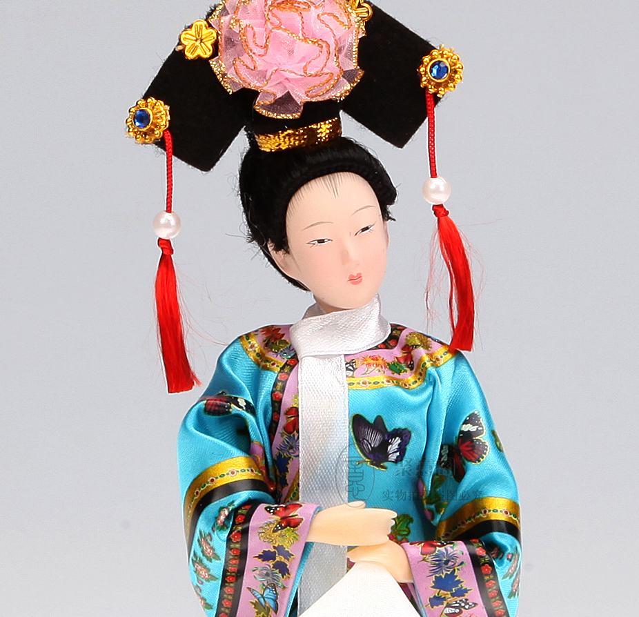 Chord A C E G Various Names A7 Adom7 Dominant Seventh Decoration Arts Crafts Girl Gifts Get Married Fine China Qing People Ladies Tang Fang Palace Doll Silk Craf Us534