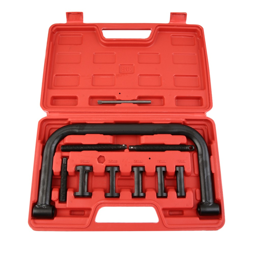 Universal Motorcycle And Automotive Car Engine Valve Spring Compressor Removal Installer Repair Tool Kit coil spring compressor jaws holder removal tool