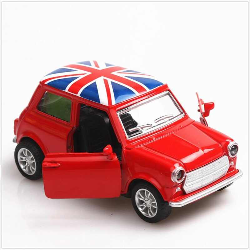 Alloy Car Toy Vehicles kids toys Mini Model Toy Pull Back Car Metal Diecast Vehicle door open classic cars Christmas Gift