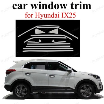 Car Styling Window Trim For H-yundai IX25  Accessories Stainless Steel  Decoration Strip