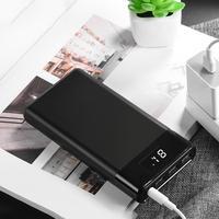 HOCO Portable Charge 30000mAh DC5V 2A Three USB Ports Light LED Display Power Bank External Battery For xiaomi mi iPhone XS X