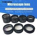 Тринокулярный микроскоп 0.5X 0.7X Вспомогательный объектив двойной мультипликатор расширение анти-Масляный зеркальный пылезащитный объектив...