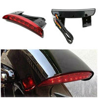 LED Brake Rear Tail Light Fender Edge Motorcycle Rear License Plate Light for Harley Sportster 883 1200