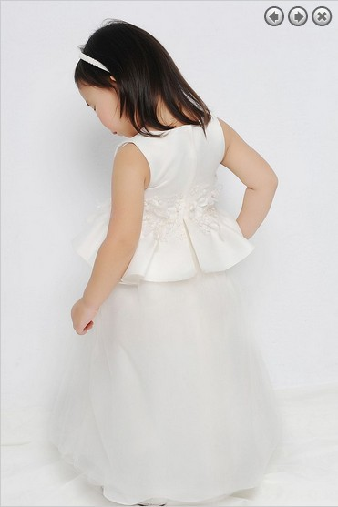 free shipping red flower girl dresses for weddings 2016 m first communion dress pageant dresses for girls glitz white dress in Flower Girl Dresses from Weddings Events