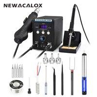 NEWACALOX 8586 EU 220V 700W Hot Air Gun Lead Free Soldering Station BGA Rework SMD Heat