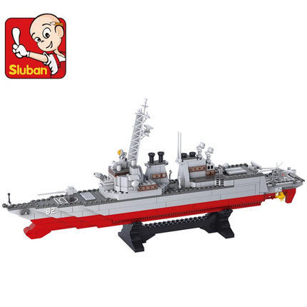 model building kits compatible with lego city warship 475 3D blocks Educational model & building toys hobbies for children 0389