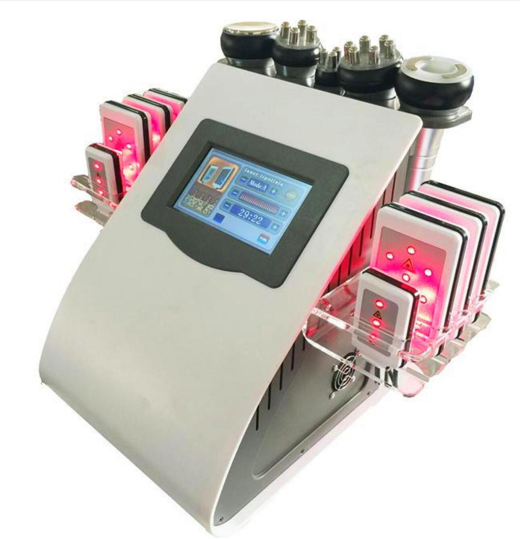 Липосакции 40 K ультразвуковая кавитация вакуума Tripolar радиочастотный лазер 8 колодки lipo лазерная машина для похудения для домашнего использ