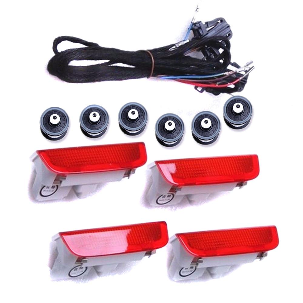 TUKE OEM Porte Avertissement light+Cable+clip Pour VW Passat B6 B7 Jetta Golf MK5 MK6 Touareg 3AD 947 411 A , 3B0 972 702 tuke rns310 rns315 rcd510 rns510 oem vw tiguan connect the electric wire reversing camera module